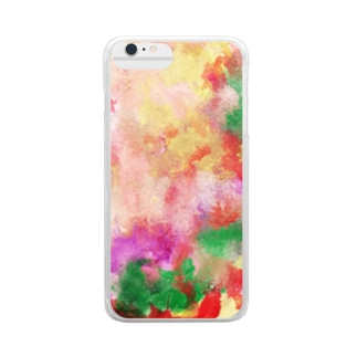 watercolor drawing Clear smartphone cases