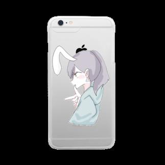 はくろ(Hakuro)のラムネのラムちゃん clear Clear smartphone cases