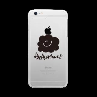 AFROMANCEのアフロマンス・ロゴクリアスマートフォンケース