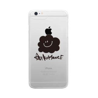 AFROMANCEのアフロマンス・ロゴ Clear smartphone cases