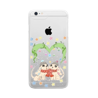 dog heart Clear smartphone cases
