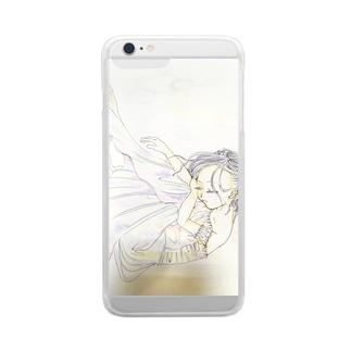 夢のなか Clear smartphone cases