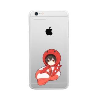 エビ好きのたこしゃん Clear smartphone cases