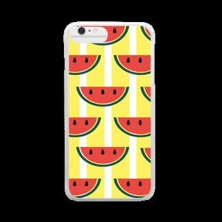 emi SHOPのスイカ クリアスマートフォンケース