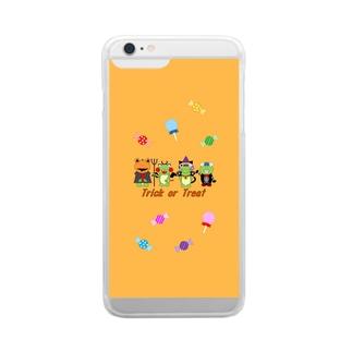 ハロウィンファミリー Clear smartphone cases