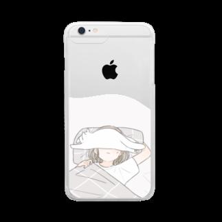 百瀬たろうの猫とおやすみ Clear smartphone cases