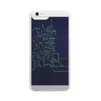 線のスマホケース Clear smartphone cases