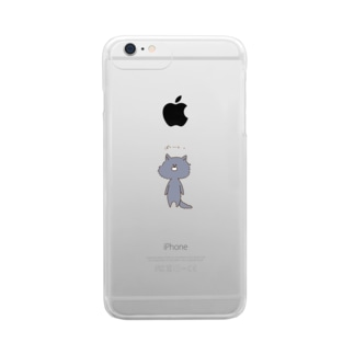 Timid wolf. Clear smartphone cases