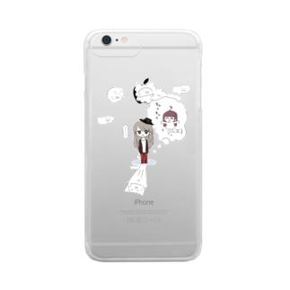 うりゅろいどとにゃっくまのかげ(4コマ漫画ぽにーとうりゅろいど) Clear smartphone cases
