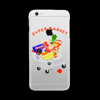トマトマーケットのスーパーマーケット(カート) Clear smartphone cases