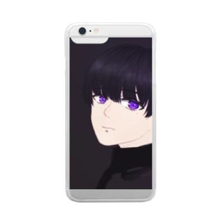 紫 Clear smartphone cases