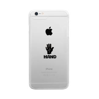 手 HAND Clear smartphone cases