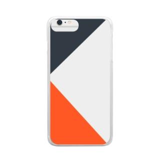 三角オレンジ Clear smartphone cases
