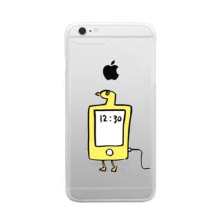 スマホ鳥 Clear smartphone cases