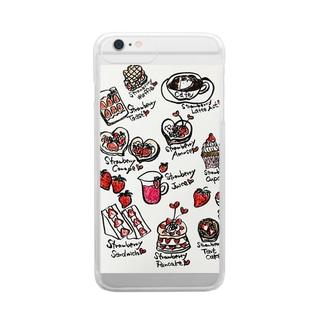 ストロベリーラボ Clear smartphone cases