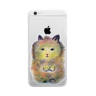 小さなうさぎのむぎちゃん Clear smartphone cases