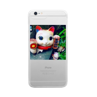 MANEKINEKO Clear smartphone cases