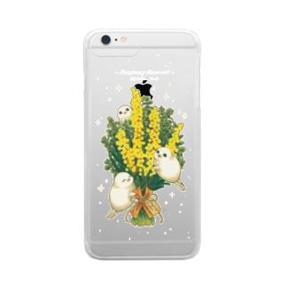 ミモザとアザラシ・ケース Clear smartphone cases
