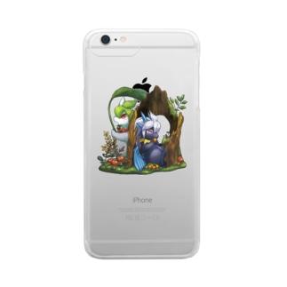 雨の森(side:ティー)・ケース Clear smartphone cases