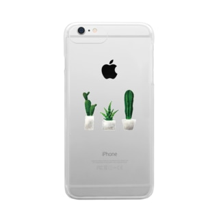 cactus Clear smartphone cases