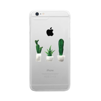cactus Clear smartphone cases