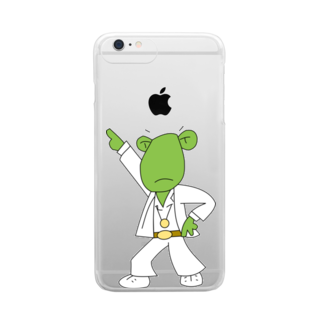 Patmaru WorksのDISCO FROGBERT Clear smartphone cases