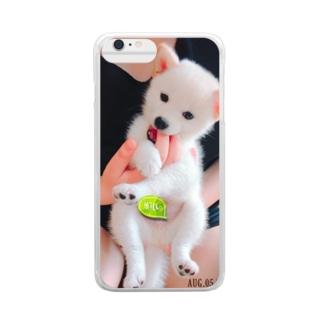 白柴のきなこ Clear smartphone cases