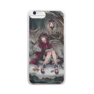 狼と赤ずきん Clear smartphone cases