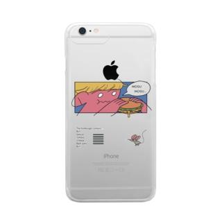 ハンバーガーもぐもぐ君 Clear smartphone cases
