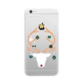 オーナメントナカイ Clear smartphone cases