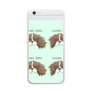 爽やかミント☆キャバリア Clear smartphone cases