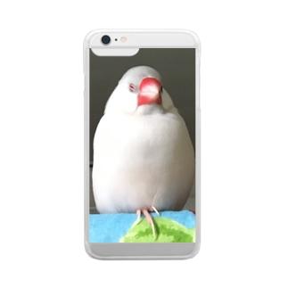 餅文鳥 文太 Clear Smartphone Case