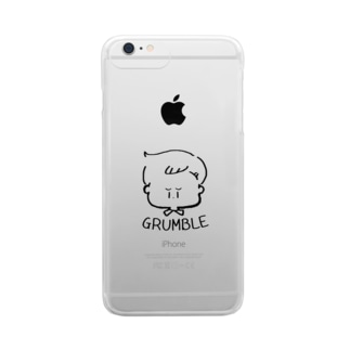 GRUMBLE BOY Clear smartphone cases