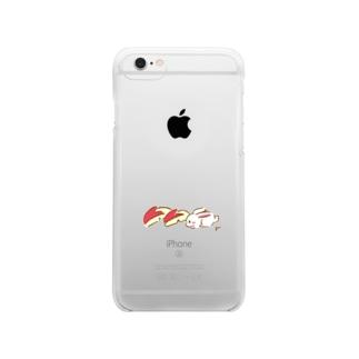 りんごうさぎ クリアスマートフォンケース