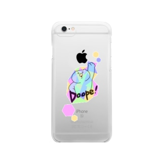 Doope!くま Clear smartphone cases