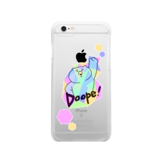 Doope!くま クリアスマートフォンケース