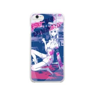 TVG桃スマートフォンケース Clear smartphone cases