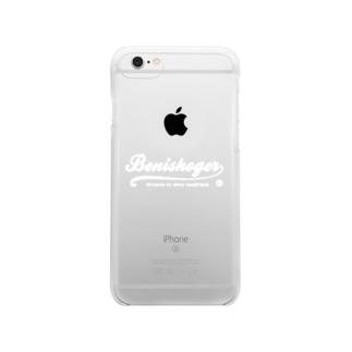 BENISHOGER 筆記体白 Clear smartphone cases