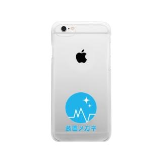 装置メガネロゴ Clear smartphone cases