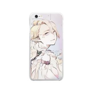 エルフの女の子 Clear smartphone cases