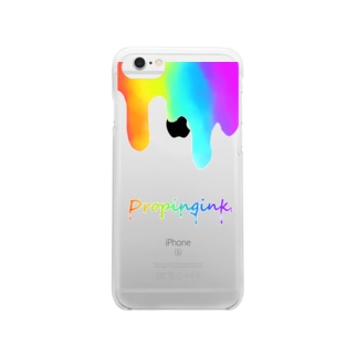 Droping ink Clear smartphone cases