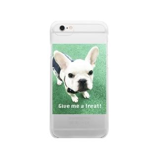 フレンチパピー Clear smartphone cases