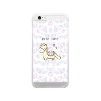 ペティーホース Clear smartphone cases