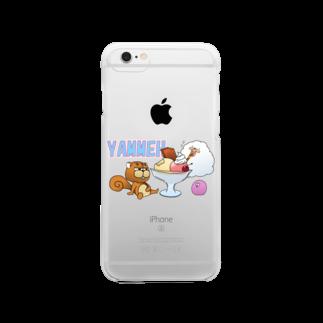 SUZURI×ヤマーフのYAMMEHサンデー Clear smartphone cases