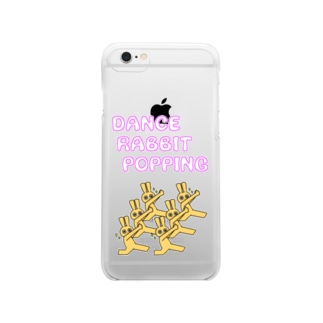 DANCE RABBIT POPPING Clear smartphone cases