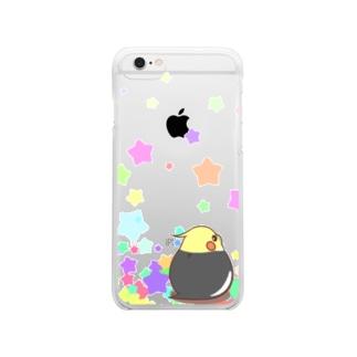 振り向きオカメ(ノーマル) Clear smartphone cases