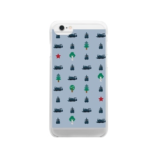 SL★クラウス柄 Clear smartphone cases