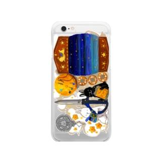 うさぎの裁縫箱 Clear smartphone cases