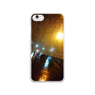 Gleam after rain Clear smartphone cases