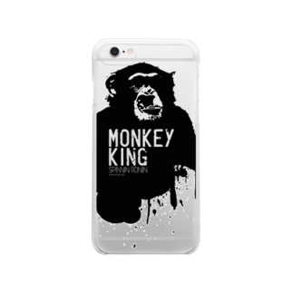 OFFICIAL GOODS SHOPのMONKEY KING_BLACK Clear smartphone cases